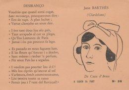 CPSM 13 BARTHES FEMME FELIBRE DESIEANCO POEME PROVENCAL DE CAZAS ARNOS - Ohne Zuordnung