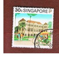 SINGAPORE   -  SG 628  -    1990  TOURISM:  RAFFLES HOTEL  -  USED ° - Singapore (1959-...)