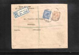Great Britain 1919 Interesting Registered Letter - 1902-1951 (Könige)