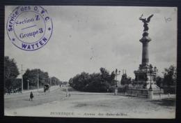 Watten (Nord) 1915 Service Des G.V.C Section Z Groupe 3, Cachet De Calais Gare Sur CPA De Dunkerque - Guerre De 1914-18