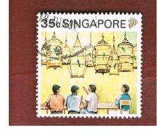 SINGAPORE   -  SG 629  -    1990  COFFEE SHOP  -  USED ° - Singapore (1959-...)