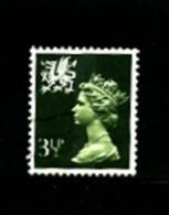 GREAT BRITAIN - 1974  WALES  3 1/2 P.  CB  FINE USED   SG  W17 - Regionali