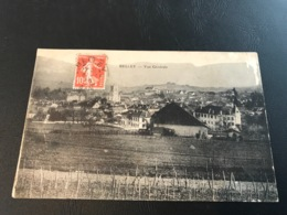 BELLEY Vue Generale - 1916 Timbrée - Belley