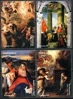 Tanzania 2015. Christmas. Pictures (MNH OG) Set Of 4 Stamps - Tanzania (1964-...)