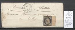 France -Lettre - Ceres Yvert 3 Bord De Feuille - Annonay - Ardeche - 12/1849 - 1849-1876: Période Classique