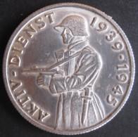 Suisse Médaille En Argent AKTIV-DIENST 1939- 1945 Pour Service Actif - Other
