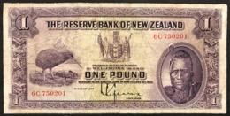 Nuova Zelanda NEW ZEALAND 1 Pound 1933 Pick#155 CHIEF MAORI KIWI BIRD LOTTO 2913 - Nieuw-Zeeland