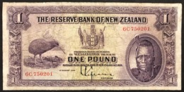 Nuova Zelanda NEW ZEALAND 1 Pound 1933 Pick#155 CHIEF MAORI KIWI BIRD LOTTO 2913 - Nuova Zelanda
