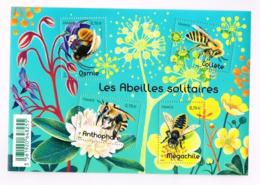 France. Abeilles Solitaires. Bloc - Bienen