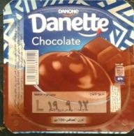 Egypt - Couvercle De Chocolate Danone Danette English (foil) (Egypte) (Egitto) (Ägypten) (Egipto) (Egypten) Africa - Koffiemelk-bekertjes