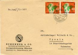 (k7129) Brief Bund St. München N. Upsala - BRD