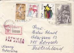 CYCLING, CANOE, NEW YEAR, KING, STAMPS ON REGISTERED COVER, 1988, POLAND - Briefe U. Dokumente