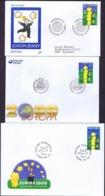 Denmark, Faroe Islands And Sweden 2000.  Europa - CEPT;  FDC - 2000