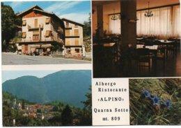 """Albergo Ristorante """"ALPINO"""" - Quarna Sotto Mt. 809 - Vedute - Altre Città"""