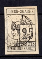 Diégo-Suarez Maury N° 9 Oblitéré. B/TB. A Saisir! - Diego-suarez (1890-1898)