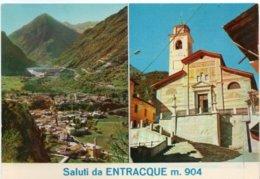 Saluti Da ENTRACQUE M. 904 - Panoramica - Chiesa Parrocchiale - Vedute - Altre Città