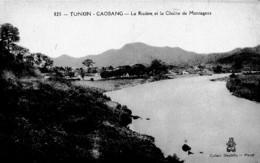 TONKIN -CAOBANG ,RIVIERE ET CHAINE DE MONTAGNES    REF 61288 - Vietnam
