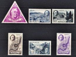 MONACO 1946 SERIE  N° 295 A  N° 300 - 6 TP NEUFS**/9 - Monaco