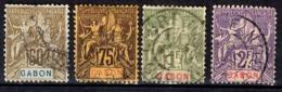 Gabon Maury N° 26/29 Oblitérés. B/TB. A Saisir! - Gabun (1886-1936)