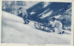 74 CHAMONIX MONT BLANC SPORTS D HIVER DES ENFANTS FONT DE LA LUGE  Editeur MONNIER 155 - Chamonix-Mont-Blanc