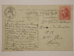 Belgique COB 168 Sur Carte - 1919-1920 Roi Casqué