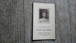 Faire Part Décès Madame Sadi Carnot Marguerite Duchesne Fournet Rome  Généalogie - Obituary Notices