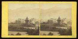 Stereoview  - Burns's Monument, Edinburgh SCOTLAND - Stereoscopi