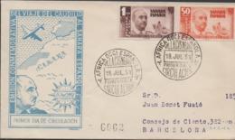 3438  Carta  Certificada  Africa Occi. Española 1951,Sahara Español - Sahara Espagnol