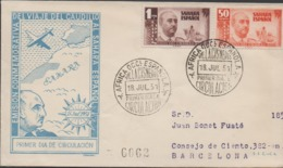 3438  Carta  Certificada  Africa Occi. Española 1951,Sahara Español - Sahara Español