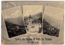 SALUTI DA MOTTA DI VILLA TIRANO - SONDRIO - 1958 - Sondrio
