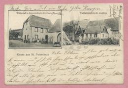 67 - GRUSS Aus St. PETERSHOLZ - SAINT PIERRE BOIS - Val De VIllé - Wirtschaft HERRBACH - Kirche St. AEGIDIUS - Voir état - Frankreich