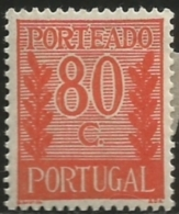 Portugal 1940 Postage Due D5 MLH - Correo Postal