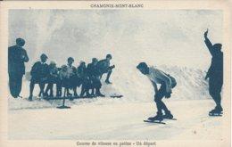 74 CHAMONIX MONT BLANC SPORTS D HIVER JO 1924 HASSLER AU DEPART DE LA COURSE DE PATINAGE DE VITESSE Editeur MONNIER - Chamonix-Mont-Blanc