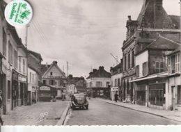 78 - Très Belle Carte Postale Semi Moderne Dentelée De  BONNIERES   Rue Georges Herrewyd - Bonnieres Sur Seine