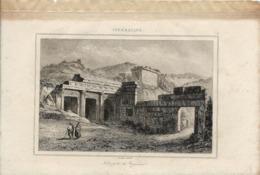 CYRENAIQUE NECROPOLE DE CYRENE 1835 INCISIONE DI LEMAITRE - Prints & Engravings
