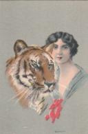 5 Cartolina - Postcard /   Non Viaggiate / Unsent -  /  Donnine - Illustratore Bianchi. - Women