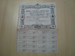ACTION 375 FRANCS SOCIETE DES MINES & USINES DU RICHALDON COMMUNE DU COLLET-DE-DEZE 1869 - Mines