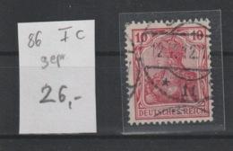 DR MNr. 86 I C Gest. Geprüft - Used Stamps