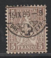 Zwitserland, Helvetia, Swiss 1867  Used  Mi.nr. 22 - Usados