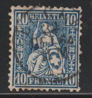 Zwitserland, Helvetia, Swiss 1867  Used  Mi.nr. 23 - Usados