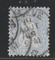 Zwitserland, Helvetia, Swiss 1881  Used  Mi.nr. 43  Used  T 11 3/4   Cat € 500,00 - Oblitérés