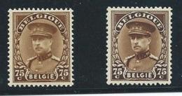 België 341 + 341a - Variétés (Catalogue COB)