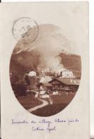 CORTINA D'AMPEZZO - Incendie Du Village D'ALVERA  - Carte-Photo Ancienne - Vera Fotografia Autentique D'Epoca - - Belluno