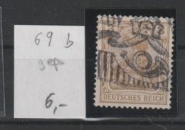 DR MNr. 69 B Gest. Geprüft - Used Stamps