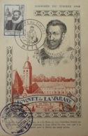 R1949/1126 - 1946 - FOUQUET DE LA VARANE - N°754 - CP 1er Jour - CàD : JOURNEE DU TIMBRE - METZ - 29 JUIN 1946 - France