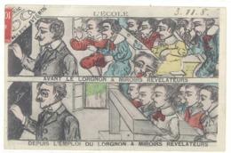 Cpa Avignon - L'Ecole, Avant Le Lorgnon, Depuis L'emploi Du Lorgnon ... ( Lunettes, Cenac ) - Avignon