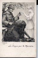CPA Militaria - La Bague Pour La Marraine  -  Illustrateur R Bréval  1916 - Guerra 1914-18