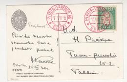 Religieux - Cloîtres - Estonie - Carte Postale De 1936 - Oblitération Spéciale De Pirita Varemed 15 Août 1936 - Estonie