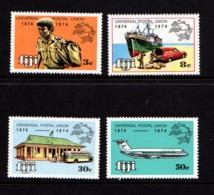 FIJI    1974    Centenary  Of  U P U    Set  Of  4    MNH - Fiji (1970-...)