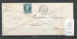 France -Lettre - Yvert 10- 25cts Présidence  Sur Lettre De ORAN - ALGERIE -1854 - 1849-1876: Période Classique